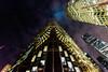 Skyward [Explored 15.12.2017] (Viv Lynch) Tags: canada night nightphotography ontario toronto urban downtown city rbc royalbank frontstreet buildings skyscraper clouds fog birdkillers lightsatnight
