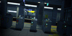 """""""Ticket To Ride"""" (Eripom^^) Tags: secondlife second life 2nd 2ndlife sl virtual world japanese country landscape sea subway station train blur road sign"""