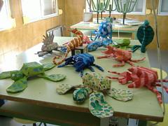 DSCF0939 (AnaMonteroSanchez) Tags: manualidades aula animales tortuga cangrejo reciclaje