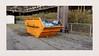 Orange & blue (frankdorgathen) Tags: waste stone kokerei hansa dortmund ruhrgebiet garbage container fence industry industriekultur