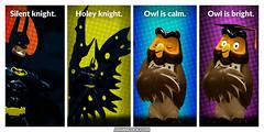 PopFig: Holy Holiday Hush, Batman! (JD Hancock) Tags: jdhancock popfig comics lol webcomics geeky photocomics fun funny batman owl dccomics disney
