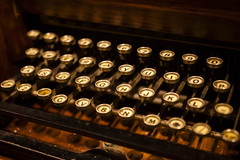 Keyboard (All that remains) Tags: cornwall holiday porthcurno telegraphmuseum communication keyboard keys letters mechanical telegraph typography