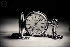 IMG_4716logo (Annie Chartrand) Tags: watch pocketwatch macro monochrome bw black white waltham antique vintage jewelry number hands dial face chain circle