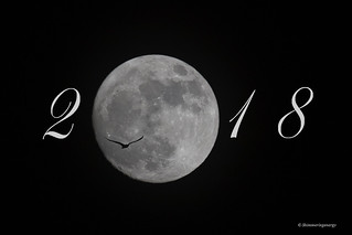 Welcoming 2018 with a Supermoon