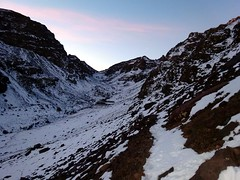 Looking towards Toubkal Refuge from the trail to Tizi Aguelzim (markhorrell) Tags: morocco highatlas atlasmountains aguelzim