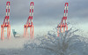 Mersey Splash (Mister Oy) Tags: davegreen oyphotos ©oyphotos water sea splash river docks cranes fog foggy newbrighton wirral liverpool d850 nikond850 85mm nikon85mmf14gafs moody misty industry industrial