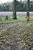 Little Orange Ridinghood (Shabba Al) Tags: inchture southlodge dundee angus perthshire scotland winter autumn november 2017 trees track forest leaves orange jacket boy mica