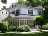 Old Rocky Hill House (Melinda Young Stuart) Tags: rockyhillnj rockyhill nj victorian house dwelling porch glass gingerbread windows spindles brackets railings garden