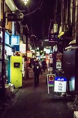 Golden Gai in Shinjuku, Tokyo - Japan (Marconerix) Tags: goldengai kabukicho shinjuku tokyo japan giappone tokyobynight bynight notte bar pub locali persona ragazzo portagialla yellowdoor