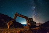 The Excavator (free3yourmind) Tags: excavator bulldozer night sky milky way stars starry kefalonia cephalonia greece soil dig worksite d750