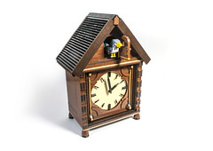 Cuckoo Clock (svenfranic) Tags: cuckoo bird lego bricks mantle