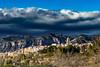 LA SÉNIA (juan carlos luna monfort) Tags: montisa tarragona terresdel´ebre cielotormentoso nubes pueblo campanario montañas paisaje nikond7200 calma paz tranquilidad sigma1750
