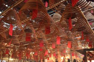 Man Mo Temple in Central, Hong Kong