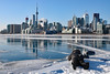 For the perfect shot (Canadian Pacific) Tags: toronto canada canadian city harbour harbor frozen polar vortex deep freeze weather solid lake water ice icy cold very extremely winter wintry sun sunny 2017aimg7118 photographer lying down polson street jenniferkaterynakovalskyj park