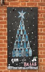 Christmas Cheer (Goby1) Tags: greetings christmas gin bells carols chalkboard ludlow shropshire