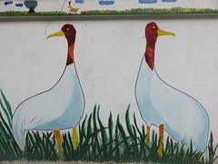 Vietnam - South Vietnam - Ho Chi Minh City - Street art - Ducks (JulesFoto) Tags: vietnam hochiminhcity saigon streetart mural ducks