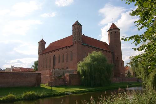 Zamek biskupów warmińskich w Lidzbarku Warmińskim od południowego zachodu