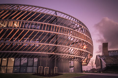 Awesome Architecture. (Ian Emerson Thanks for the comments and faves) Tags: nottingham nottinghamshire university architecture sunset building canon outdoor colourful modern magenta winter january 2018