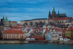 Prague Castle (Tazmanic) Tags: prague praguecastle czechrepublic castle hill river buildings sky