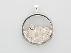 Custom Continuum Silver & Diamond Rockies Pendant