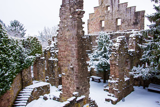 Zavelstein Castle in Winter