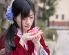 Young woman in kimono holding fallen camellia flower (Apricot Cafe) Tags: img25849 asia asianandindianethnicities healthylifestyle higashichayamachi ishikawaprefecture japan japaneseethnicity japaneseculture kanazawa kimono sigma35mmf14dghsmart artscultureandentertainment buildingexterior camellia charming cheerful citylife cultures day enjoyment fashion flower freedom freshness hairaccessory happiness holding humanhand lifestyles longhair oldfashioned oneperson onlywomen outdoors photography relaxation sitting smelling smiling springtime straighthair street tourism tradition traditionalclothing tranquility travel traveldestinations waistup weekendactivities women youngadult kanazawashi ishikawaken jp