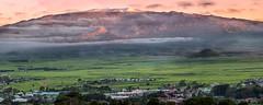 Snow Atop Mauna Kea Summit Sunset Panorama December 23, 2017 copy (JUNEAU BISCUITS) Tags: maunakea maunakeasummit waimea kamuela hawaii bigisland nikond810 nikon panorama pano sunset hawaiiphotographer bigislandphotographer oahuphotographer