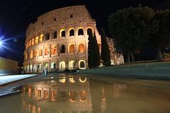 IMG_1082 (AndyMc87) Tags: longtimeexposure longtime travel rom roma rome colosseum kolosseum ruin architecture canon eos 6d iluminated ilumination bow historical himmel reflection water tree