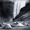 Skógafoss - Iceland (a.penny) Tags: skógafoss iceland island wasserfall waterfall nikon d7100 apenny square quadrat tent zelt monochrome