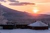 Sunrise over Niseko (Alessio Avezzano) Tags: gh5 niseko japan snow mountain