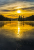 Frozen tranquillity (Tore Thiis Fjeld) Tags: norway winter ice frozen lake forest golden sunlight clouds trees scating reflection frozentranquillity tranquillity nature outdoors color