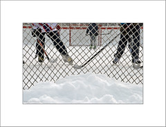 Hockey night - from my archives (Maryse Tremblay) Tags: hockey winter canada snow children outside cold game ice montreal