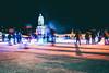 Winter fun (arianta) Tags: schlittschuhlaufen streetphotography architetur deutschland city germany langzeitbelichtung iceskating schloss karlsruhe
