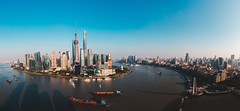 Shanghai skyline panoramic view, Shanghai China (Patrick Foto ;)) Tags: abstract aerial architecture asia background building business center china chinese city cityscape construction corporate destination downtown dusk finance financial high holiday huangpu journey landmark metropolitan modern office oriental panorama panoramic pearl pudong river scene shanghai ship sky skyline skyscraper tourism tower travel urban view water waterfront world shanghaishi cn
