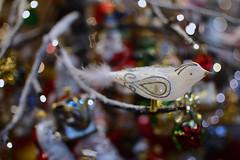 Gold and silver 's bird (moniq84) Tags: bird gold silver glass xmas christmas trentino alto adige sudtirol italia bokeh nikon colors green red white yellow