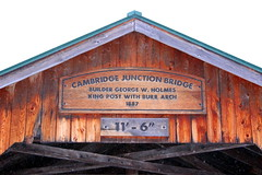 Cambridge Junction Covered Bridge Sign (pegase1972) Tags: coveredbridge us usa vt vermont sign