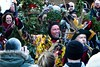 Twelfth Night 2018 - 04 (garryknight) Tags: creativecommons ccby30 panasonic lumix dmctz70 on1photoraw2018 london bankside globetheatre hollyman greenman wassail wassailing mummersplay kingbean queenpea thelionspart