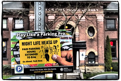 Night Life (NoJuan) Tags: olympusep5 olympusartfilter 35100mm panasonic35100 microfourthirds micro43 ballard washingtonstatedowntowns washingtonstate pacificnorthwest sign itsasign