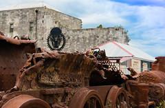 Steampunk Skull (matasbarakauskas) Tags: nikon oamaru newzealand otago steampunk skull gears machine rust train grafitti art streetart victorian building metal