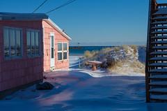 Beach House (Bud in Wells, Maine) Tags: wellsbeach atlanticave wells maine cottage summerrental vacationland snow offseason