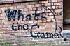 What's the Game?, Liverpool, UK (Robby Virus) Tags: liverpool england uk unitedkingdom britain greatbritain whats game graffiti tag brick wall spray paint panted merseyside