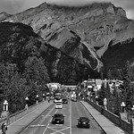 Standing in Cascade Gardens (Black & White, Banff) thumbnail