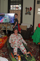 christmasmom (babyfella2007) Tags: dagger kayak perception pescador christmas 2017 boat boats jason taylor michelle grant carson child santa clause pajamas arts crafts victorian mantle fireplace piece rocking chair morris radio antique paddle tree present winnsboro sc south carolina boys old young mom river