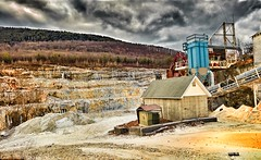Limestone quarry. (Fotofricassee) Tags: limestone quarry mine mining northwest connecticut trees berkshire foothills clouds lime shale alkaline