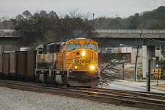 NS 733 at Austell with H2 EXE MACs (travisnewman100) Tags: norfolk southern burlington northern santa fe ns bnsf emd sd70mac h2 executive paint train railroad freight unit coal empty control point austell georgia division atlanta north inman terminal district 733