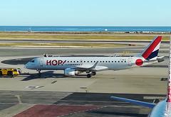 F-HBLE  NCE (airlines470) Tags: msn 123 erj190ar erj 190 hop air france nce airport ex regional cae fhble
