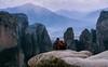 Love in the edge (Tryfon Karag) Tags: love lovely couple mountain meteora edge rock landscape autumn winter