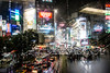 Shibuya Crossing, Tokyo - Japan (Marconerix) Tags: shibuya japan giappone tokyo night tokyobynight bynight rain rainy pioggia shibuyacrossing ombrelli wet insegne neon neonlight crowd crossing