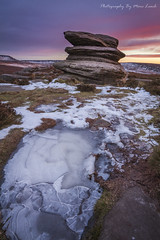 Over Owler Tor Winter [EXPLORED] (marc_leach) Tags: overowlertor peakdistrict surpriseview sunrise winter ice landscape