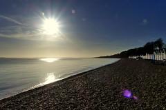 Calshot Beach (Hythe Eye) Tags: calshot hampshire beach sun solent beachhuts